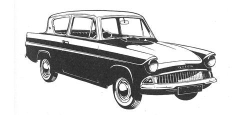 English Ford 105E Anglia