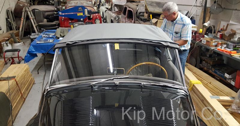 Service – Convertible Top Install: 1954 Sunbeam Alpine Mk I