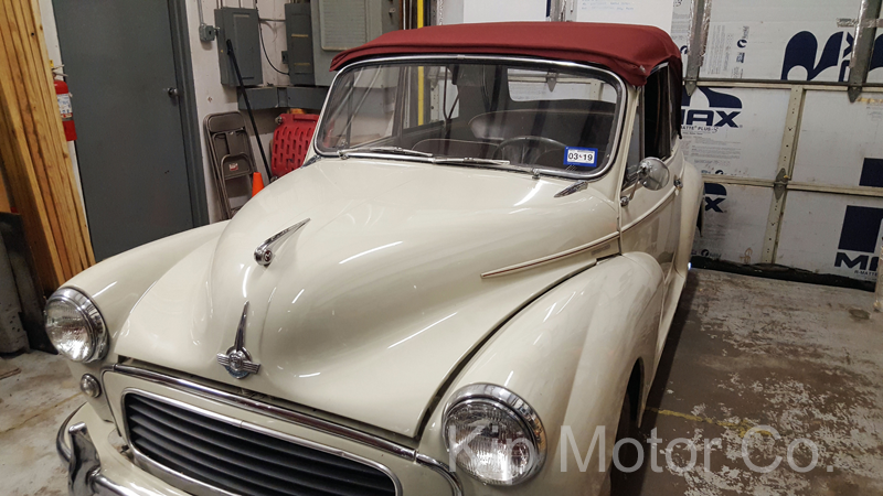 Service – Convertible Top Install: 1960 Morris Minor Tourer